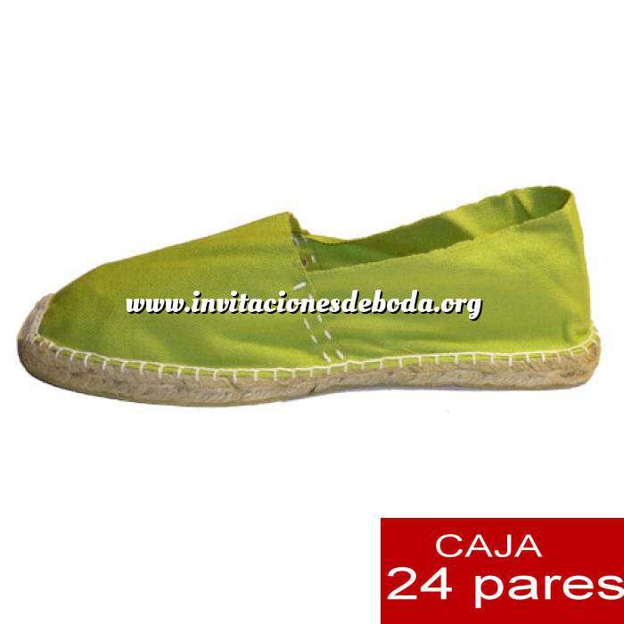 Imagen Mujer Cerradas Alpargatas cerradas MUJER color Pistacho - caja 24 pares