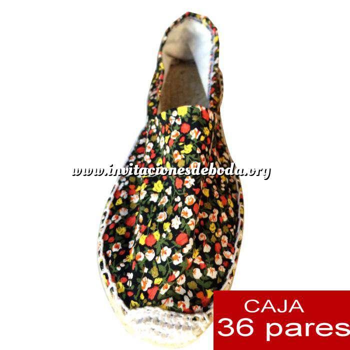 Imagen Mujer Estampadas Alpargatas estampadas Modelo flores 03 Caja 36 pares - PEQUEÑO FLORES ROJO (Últimas Unidades)