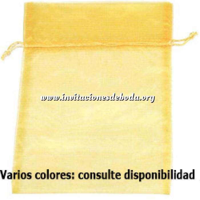 Imagen Otros modelos de Organza Bolsa de organza Amarilla 35x45 capacidad 35x40 cm