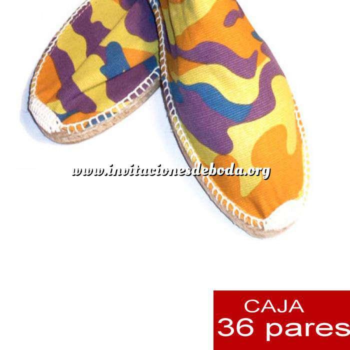 Imagen Para Hombres Alpargatas Cerradas HOMBRE Mimetizadas Amarillo caja 36 pares (Últimas unidades)