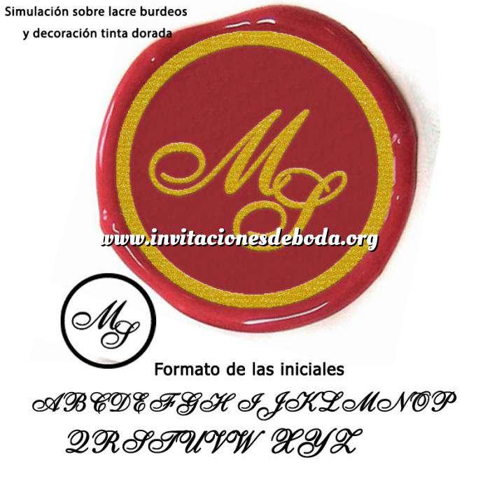 Imagen Personalizado con TU diseño Sello Lacre 2.5 cms. Iniciales inglesas