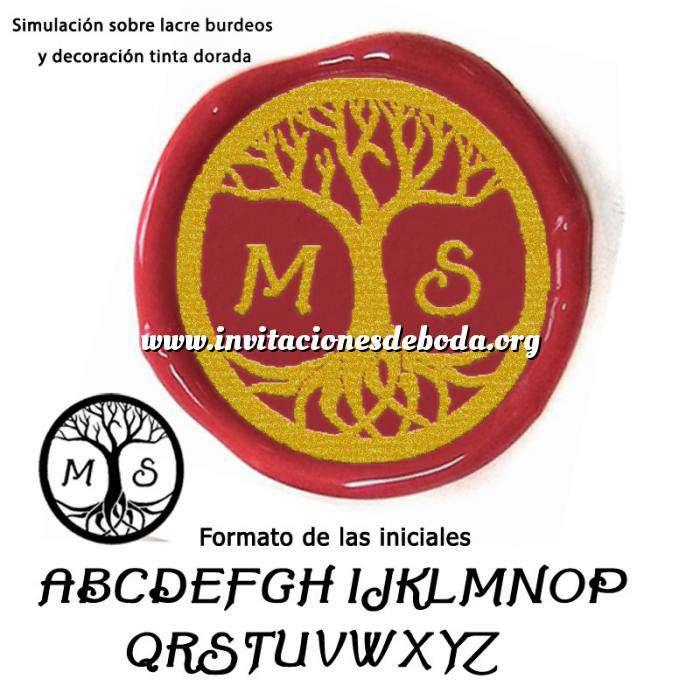 Imagen Personalizado con TU diseño Sello Lacre 3 cms. Árbol de la vida con iniciales