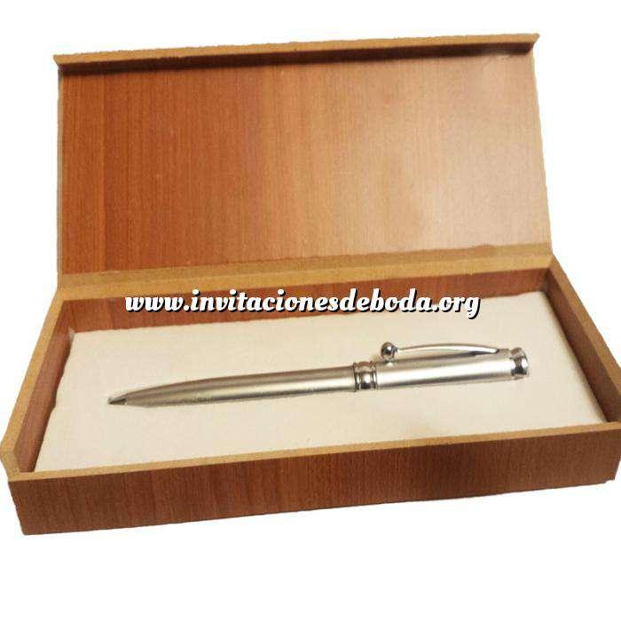 Imagen Prácticos mujer Bolígrafo plateado Mod. 2 en caja de madera (Últimas Unidades)