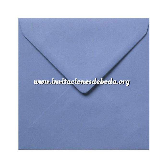 Imagen Sobres Cuadrados Sobre Azulon Cuadrado
