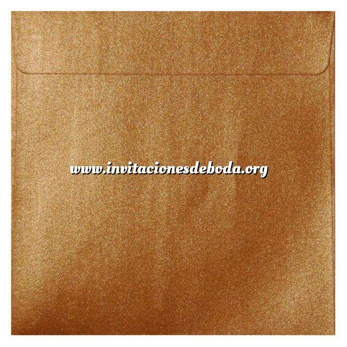 Imagen Sobres Cuadrados Sobre Perlado Cobre Cuadrado