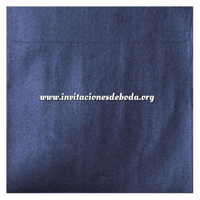 Imagen Sobres Cuadrados Sobre Perlado azul Cuadrado (azul noche)