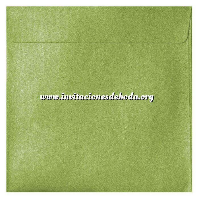 Imagen Sobres Cuadrados Sobre Perlado verde Cuadrado (Verde Lima)