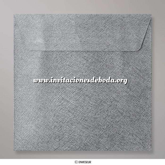 Imagen Sobres Cuadrados Sobre gris oscuro Cuadrado textura brillante (CEB155MG)