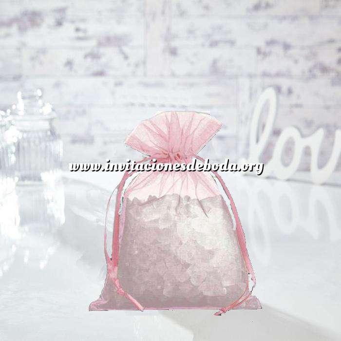 Imagen Tamaño 14x17 cms. Bolsa de organza Rosa 14x17 capacidad 13x13 cms. (Últimas Unidades)