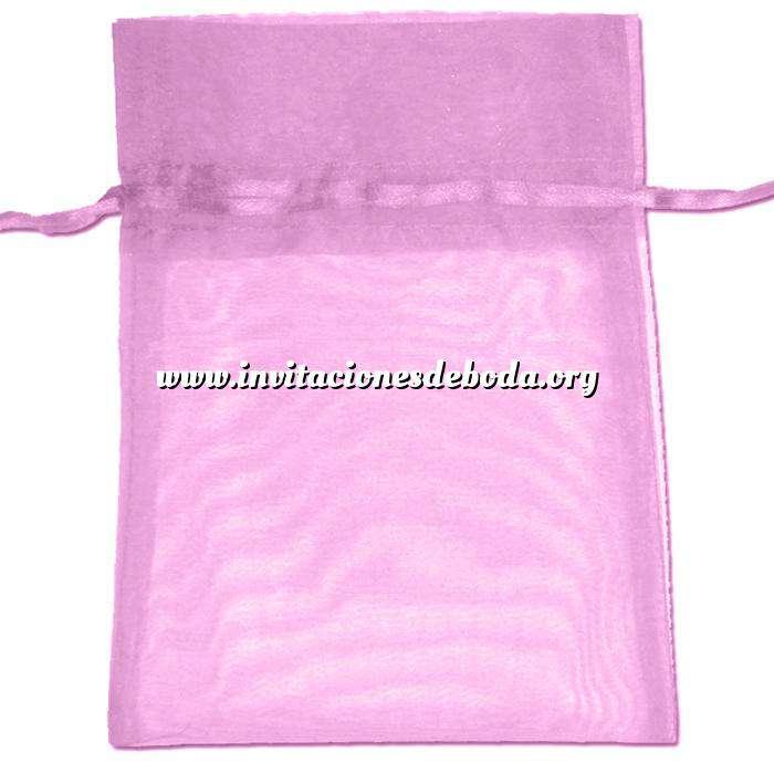 Imagen Tamaño 22x32 cms. Bolsa de organza Rosa 22x32 capacidad 21x30 cms.