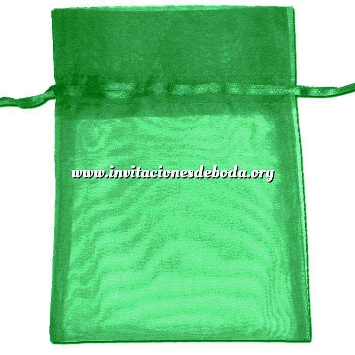 Imagen Tamaño 22x32 cms. Bolsa de organza Verde Oscuro 22x32 capacidad 21x30 cms.