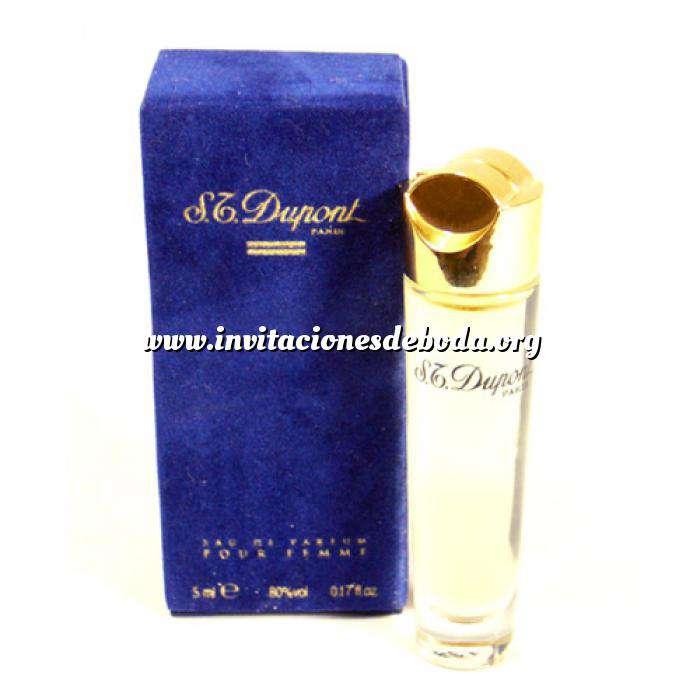 Imagen -Mini Perfumes Mujer S.T. Dupont Eau de Parfum Pour Femme 5ml. Estuche de TERCIOPELO Azul (Ideal Coleccionistas) (Últimas Unidades)