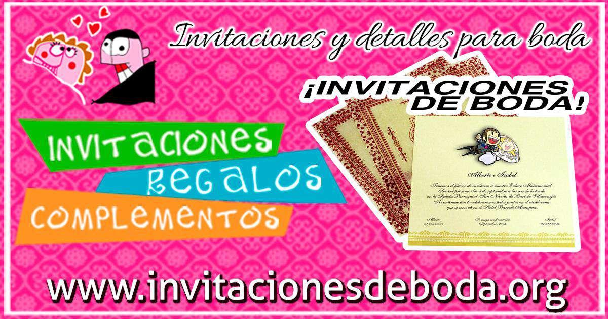 0274eecdc331 INVITACIONES DE BODA. Regalos y Complementos   Detalles ...