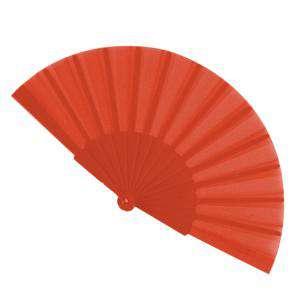 Abanico Económicos - Abanico de tela Naranja Oscuro (con varillas de plástico) (Últimas Unidades)