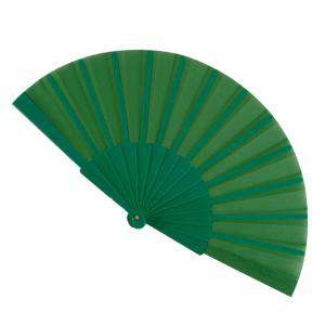 Abanico Económicos - Abanico de tela Verde (con varillas de plástico) (Últimas Unidades)