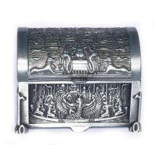Bandejas y Cofres - Cofre Metal Decoración Egipto 6,5x4,7x5 (Últimas Unidades)