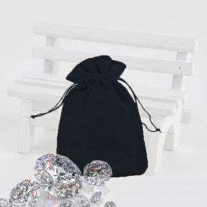 Bolsa de Antelina 9X12 - Bolsa de Antelina Negra 9x12 capacidad 9x9 cms