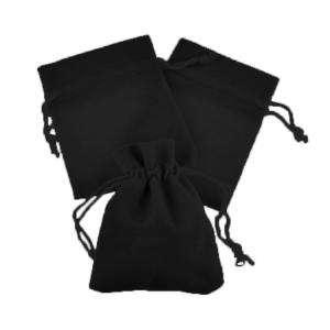 Imagen Bolsa de Antelina 9X12 Bolsa de Antelina Negra 9x12 capacidad 9x9 cms