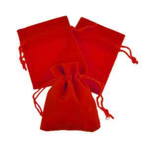 Imagen Bolsa de Antelina 9X12 Bolsa de Antelina Roja 9x12 capacidad 9x9 cms