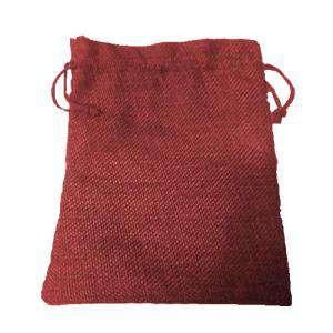 Imagen Bolsas de Yute 13x18 cm Bolsa de Yute Burdeos 13x18 capacidad 12x15 cms.