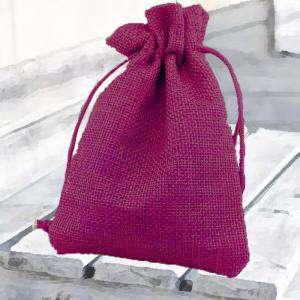 Bolsas de Yute 13x18 cm - Bolsa de Yute Fucsia 13x18 capacidad 12x15 cms.