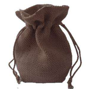 Imagen Bolsas de Yute 13x18 cm Bolsa de Yute Marrón Chocolate 13x18 capacidad 12x15 cms.