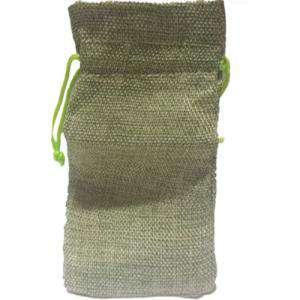 Imagen Bolsas de Yute 16x36 cm Bolsa de Yute Verde Pistacho (Claro ó Clorofila) 16x36 capacidad 15x31 cms.