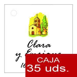 Etiquetas impresas - Etiqueta Modelo E08 (Paquete de 35 etiquetas 4x4)