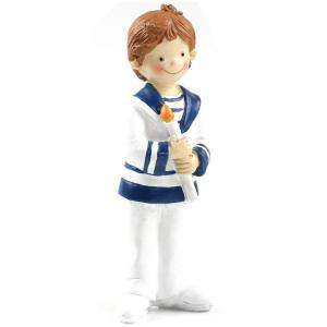 Figuras de Comunión - Figura Tarta Comunión Niño Marinerito con vela