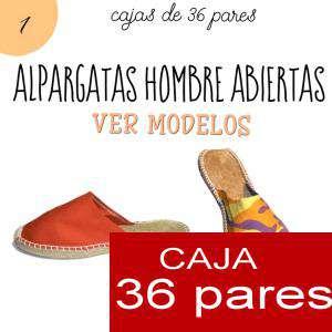 Imagen Hombre Abiertas Alpargatas Abiertas HOMBRE Mimetizadas Amarillo caja 36 pares (Últimas unidades)