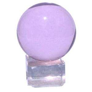 Marcos y decoración - esfera cristal rosada