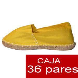 Mujer Cerradas - Alpargatas cerradas MUJER color Amarillo - caja 36 pares (Últimas Unidades)