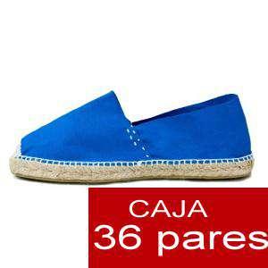 Mujer Cerradas - Alpargatas cerradas MUJER color Azul Royal - caja 36 pares (Últimas Unidades)