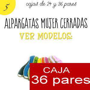 Imagen Mujer Cerradas Alpargatas cerradas MUJER color Pistacho - caja 36 pares (Últimas Unidades)