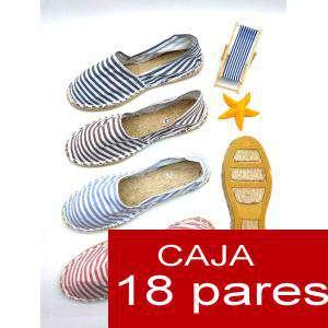Mujer Estampadas - Alpargata estampada RAYAS HERMOSAS Caja 18 pares