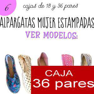 Imagen Mujer Estampadas Alpargata estampada TOPOS Caja 36 pares (Últimas Unidades)