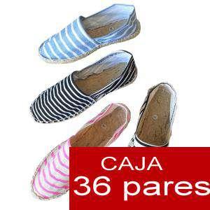 Mujer Estampadas - Alpargata estampadas RAYAS VERANO Caja 36 pares - OFERTA ULTIMAS CAJAS (Últimas Unidades)