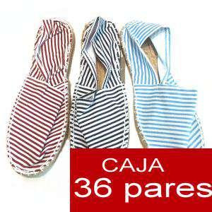 Mujer Estampadas - Alpargatas Estampadas RAYAS FINAS - caja 36 pares (Últimas Unidades)