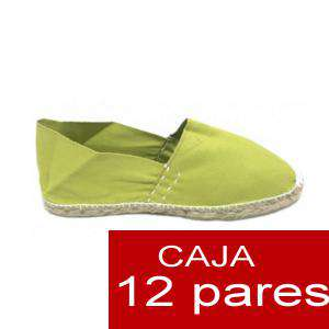 Para Niño - Alpargatas Niño color VERDE PISTACHO LOTE de 12 uds (tallas 28-34)