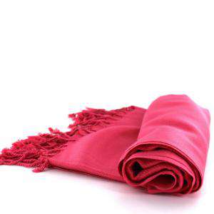 Pashminas - Pashmina Lisa CALIDAD SUPERIOR - Color ROSA CHICLE - CORAL (Pasmina)