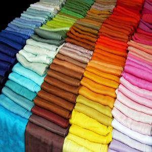 Pashminas - Pashmina Lisa de colores surtidos (pasmina)