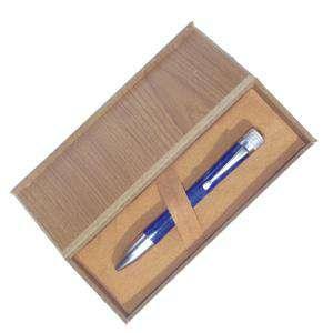 Prácticos mujer - Bolígrafo azul en caja de madera (Últimas Unidades)