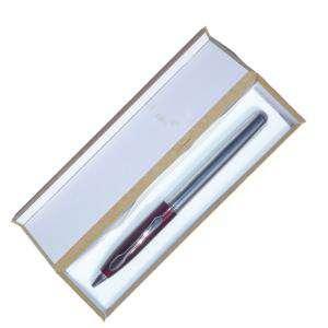 Prácticos mujer - Bolígrafo invertido Burdeos/plata en caja de madera burdeos (Últimas Unidades)