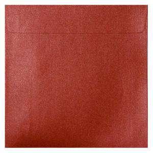 Sobres Cuadrados - Sobre Perlado Rojo Cuadrado (Rojo Cardenal)