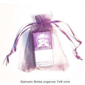 Imagen Tamaño 07x09 cms Bolsa de organza Rosa 7x9 - capacidad 7x7.5 cms.