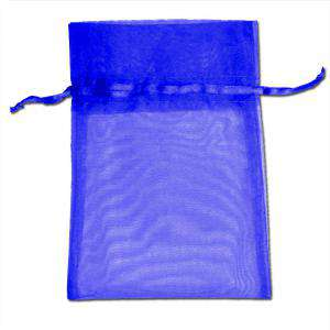 Imagen Tamaño 14x17 cms. Bolsa de organza Marino 14x17 capacidad 13x13 cms.