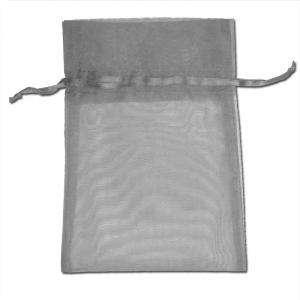 Imagen Tamaño 15.5x24 cms. Bolsa de organza Gris Plata 15,5x24 capacidad 15x20 cms.