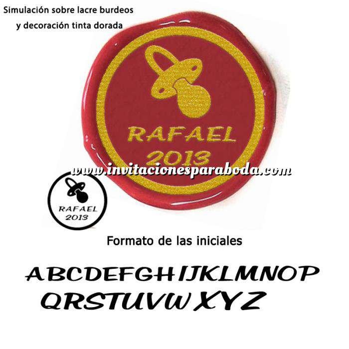 Imagen Personalizado con TU diseño Sello Lacre 2.5 cms. Bautizo chupete