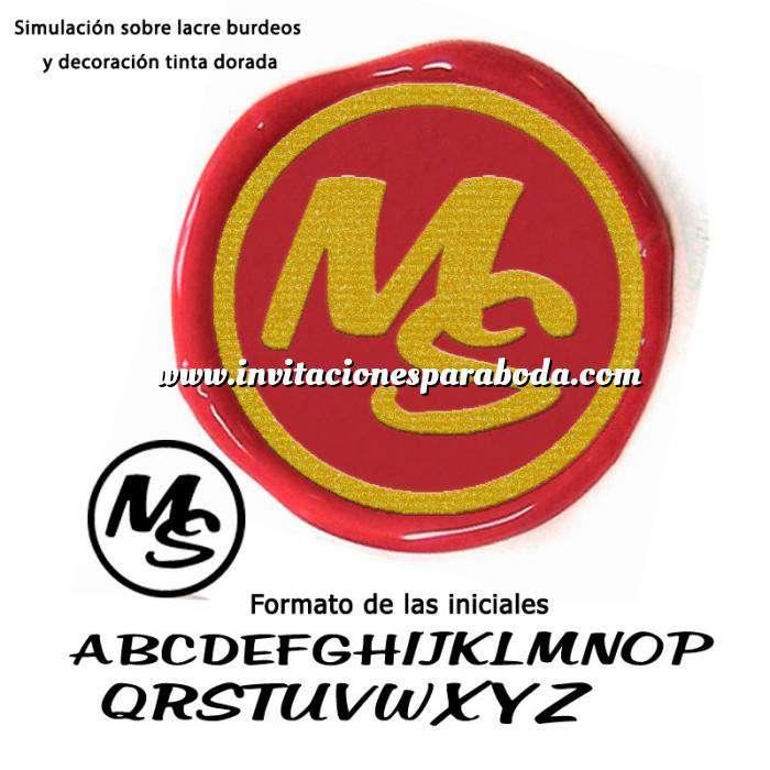 Imagen Personalizado con TU diseño Sello Lacre 2.5 cms. Iniciales informales