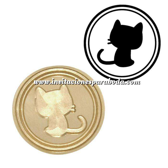 Imagen Símbolos Sello lacre mango largo - ANIMALES - Gato Pequeño (Últimas Unidades)